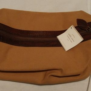 SADDLE CANVAS EXPANDABLE TOILETRIES BAG
